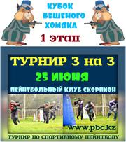 25 июня Любительский Турнир по пейнтболу 3 на 3 в клубе Скорпион.